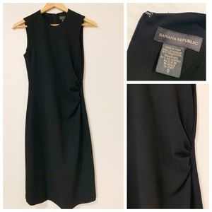 Banana Republic Black Sheath Dress in Size 0